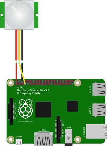 树莓派使用HC-SR501被动红外传感器(PIR)检测有没有人