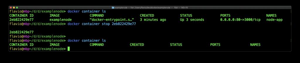 在命令行中使用Docker容器