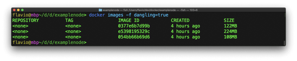 在命令行中处理Docker镜像