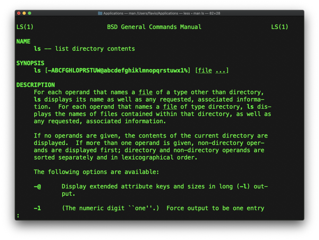 Linux man命令