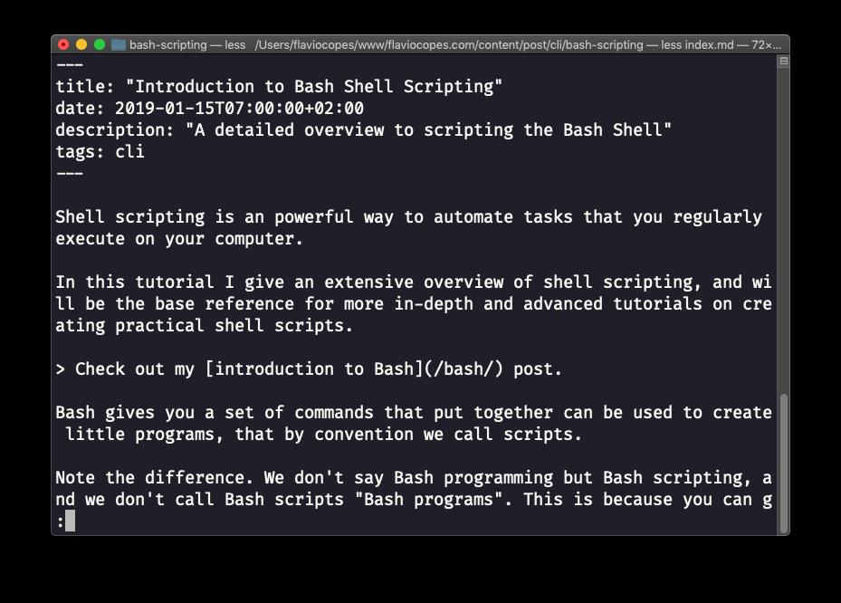 Linux less命令